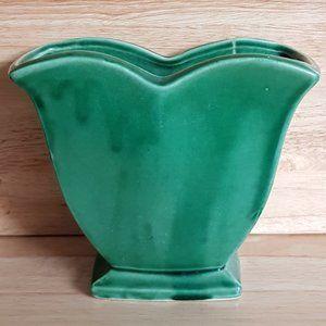 McCoy USA Pottery Green Glazed Vase
